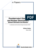 President-elect Obama and Nuclear Disarmament. Between Elimination and Restraint