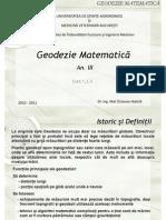 Mathematical Geodesy