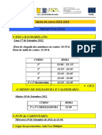 Datas Inicio de Curso 2012-2013