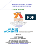 PONGE - AGUKOH - Baseline Survey on the Participation and Representation of Women in Political Parties in Kenya.