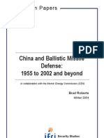 China and Ballistic Missile Defense