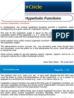 Inverse Hyperbolic Functions