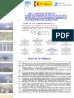 Boletin semanal de empleo de la Provincia de Cádiz del 10 al 16 de septiembre