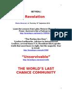 Revelation Thursday Get Real 13th September2012