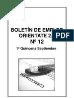 BOLETIN EMPLEO ORIENTATE 2.0  Nº 12 1º QUINCENA SEPTIEMBRE