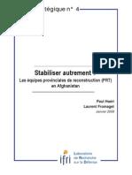 Stabiliser autrement? Les équipes provinciales de reconstruction (PRT) en Afghanistan