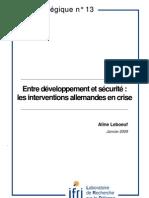 Entre développement et sécurité