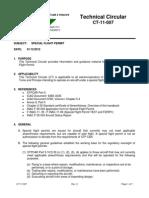 CT-11-007 Special Flight Permit