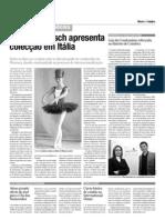 Micaela Larisch - Diário de Coimbra - 10/02/2009