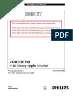 מעבדה למעגלים ספרתיים- דפי נתונים של 7493 - 4b Ripple Counter