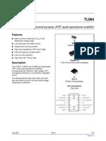 מעבדה למעגלים ספרתיים- דפי נתונים של Amplifier - Tl084