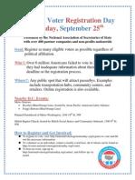 National Voter Registration Day Flier