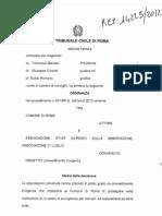 Sent Del 13 Sett 2012 Tribunale Di Roma Sezione Feriale