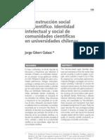 La construcción social del científico. Identidades científicas en Chile