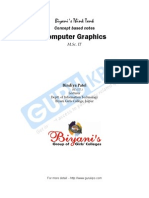 Notes for Computer Graphics