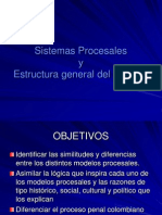 1.- Sistemas Procesales y Estructura General Del Proceso