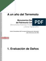 Estudio 2011 del Consejo de Monumentos Nacionales por daños en MHI y ZT tras terremoto (Presentación)