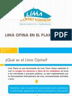 Lima Opina en el Plan de Lima