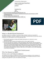CDC - NIOSH Health Hazard Evaluations (HHEs) - HHE Program Information