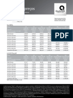 Tabela de Preços - Guia SulAmérica NP 04 2012
