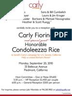 Reception with Condoleezza Rice for Carly Fiorina