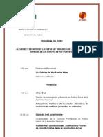 Programa Para El Foro Sobre sobre Ley Especial de Justicia de Paz