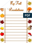 My Fall Resolutions (printable)
