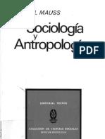 Mauss Sociologia y Antropologia