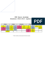 Dance Schedule Updated