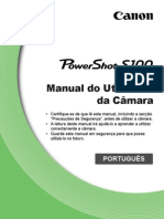 PowerShot S100 Camera User Guide PT v1.0