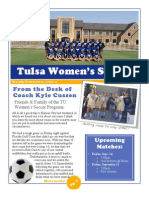 Tulsa Women' Soccer Newsletter