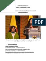 Impacto en la prensa de la declaración de Bogotá