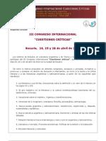 CONGRESO INTERNACIONAL CUESTIONES CRíTICAS 2013