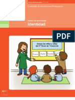 Cuadernillo de orientaciones pedagógicas Identidad