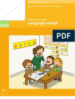 Cuadernillo de orientaciones pedagógicas Lenguaje Verbal