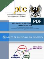 Titulo Proyecto Investigacion