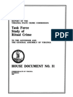 Virginia State Crime Commission, Task Force Study of Ritual Crime (1992)