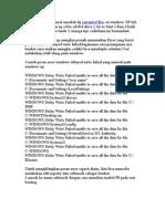 Tips Buat Yg Mempunyai Masalah Dg Corrupted Files on Windows Xp Trik Nya Sbb