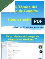 Presentacion Ficha Tecnica y Tipos de Antivirus