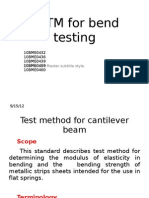 ASTM for Bend Testing