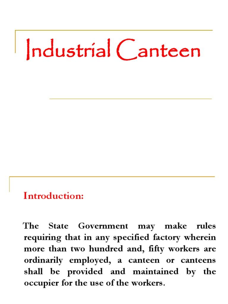 Industrial Canteen Committee[1] | Kitchen | Business