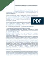 APUNTES SOBRE LA REORGANIZACION SIMPLE EN LA LEGISLACiÓN PERUANA
