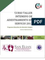 Programa x Curso-taller Septiembre 2012