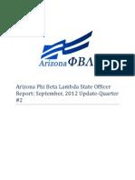 Arizona Phi Beta Lambda State Officer Report-September 2012