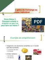 TD 3 Les gains de l'échange au niveau individuel