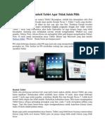 Tips Membeli Tablet Agar Tidak Salah Pilih