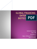 Global Financing Enterprise on Biotechnology.