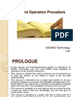 Standard Operation Procedure(SOP)