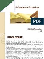 Standard Operation Procedure(SOP)