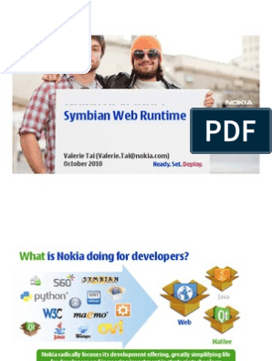 Symbian Web Runtime | Web Application | Web Browser